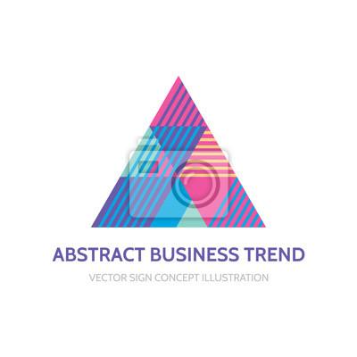 Fototapeta Abstraktní obchodní trend - vektorové logo koncept ilustrace pro  corporate identity. Abstraktní pyramidy logo be3885350a