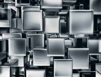 Fototapeta abstraktní obraz kovové kostky pozadí