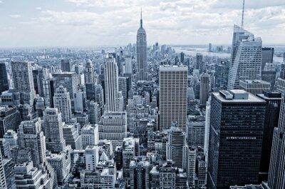 Fototapeta Abstraktní pohled z výšky na Manhattan