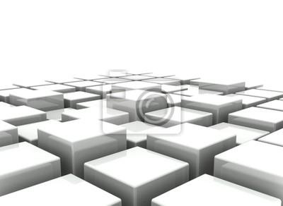 Abstraktní pozadí 3d bloků