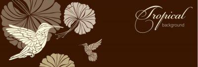 Fototapeta Abstraktní pozadí s květinami