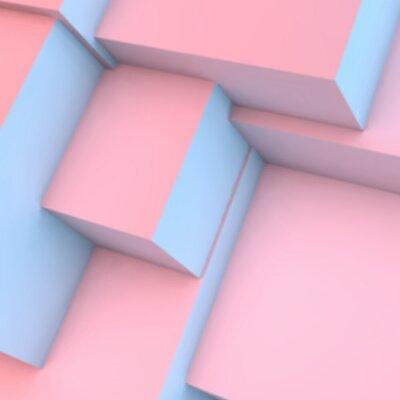Fototapeta Abstraktní pozadí s růžovým křemenem a vyrovnanost kostky