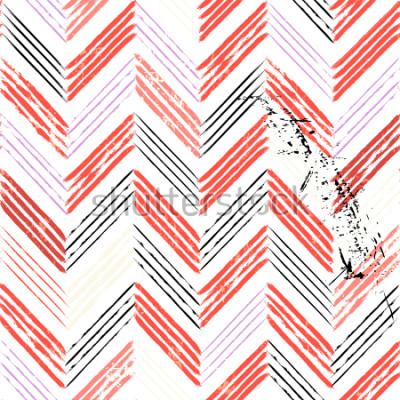 Fototapeta abstraktní pozadí, s tahy a postříkání, jednoduchý cikcak vzor