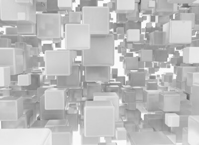 Fototapeta Abstraktní pozadí z kovových kostky