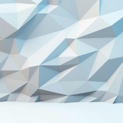 Fototapeta Abstraktní šedé pozadí s polygonálním vzorem. 3d obraz