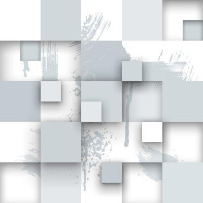 Fototapeta Abstraktní textura s čtverečky a barvy postříkání.