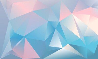 Fototapeta Abstraktní trojúhelník pozadí. Světlá modrá, růžová a bílá barva.