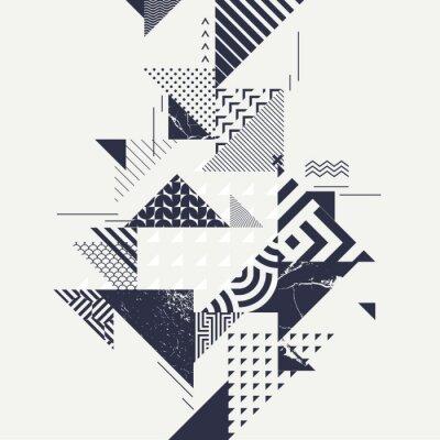 Fototapeta Abstraktní umění pozadí s geometrickými prvky