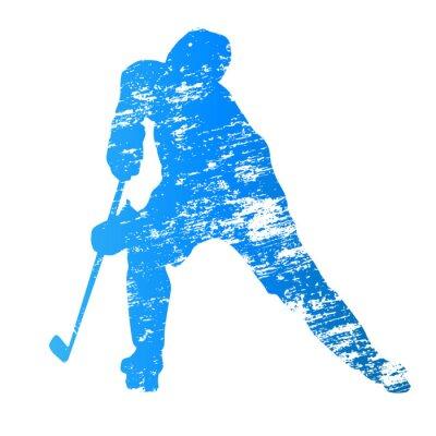 Fototapeta Abstraktní výstřední vektor hokejista