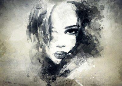 Fototapeta abstraktní žena portrét