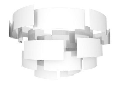 Abstraktní zkroucené kovové sqaures izolovaných na bílém pozadí