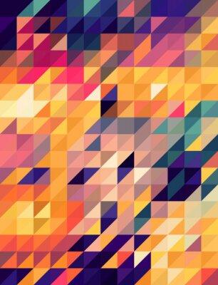 Fototapeta Abstraktní zlaté a modré trojúhelníky pozadí