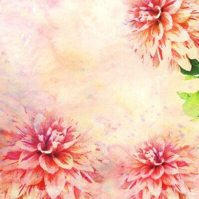 Fototapeta Akvarel ilustrace květinové téma