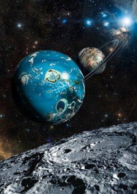 Fototapeta Alien Exo Planet. Prvky tohoto obrázku zařízený NASA