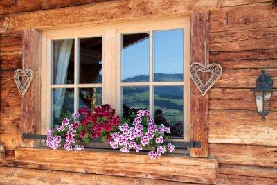 Fototapeta Alpy v okně