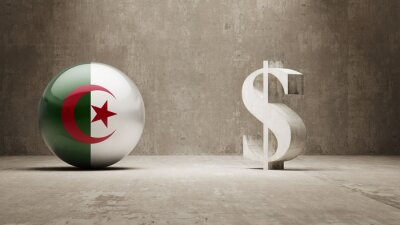 Alžírsko. Peníze Sign koncept.