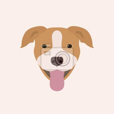 f4f3c492efd Fototapeta Americký pitbull teriér portrét. Vektorové ilustrace portrét pes  na bílém pozadí.
