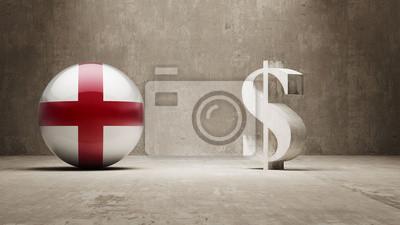 Anglie. Peníze Sign koncept.
