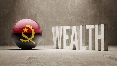 Angola. Bohatství Concept.