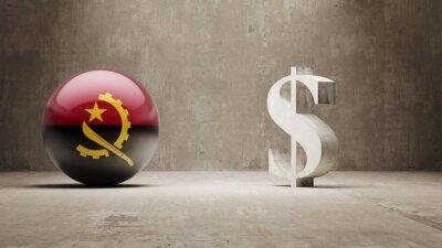 Angola. Peníze Sign koncept.