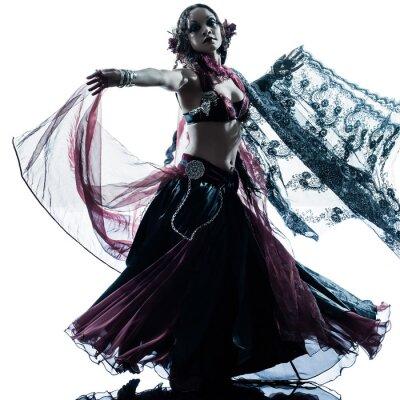Fototapeta arabština žena tanečnice tančí