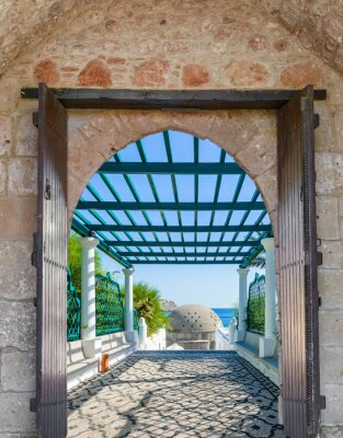 Fototapeta arch v pevnosti