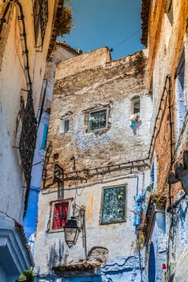 Fototapeta Architektonický detail v Chefchaouen, Maroko, Afrika