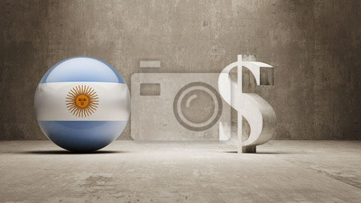 Argentina. Peníze Sign koncept.