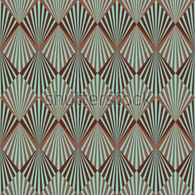 Fototapeta Art Deco styl bezproblémové vzorek textury