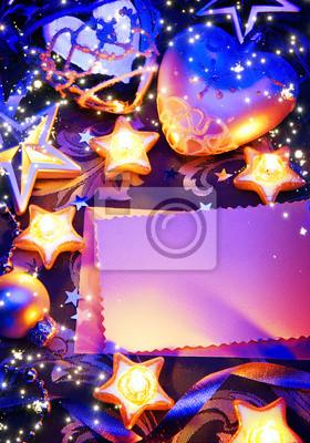 art romantické vánoční přání