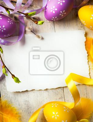 art Velikonoční pozadí s velikonoční vajíčka