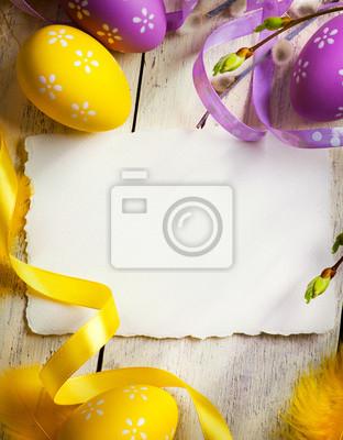 art Velikonoční přání s velikonoční vajíčka
