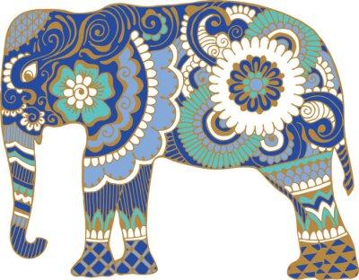 Fototapeta Asijský slon se vzory