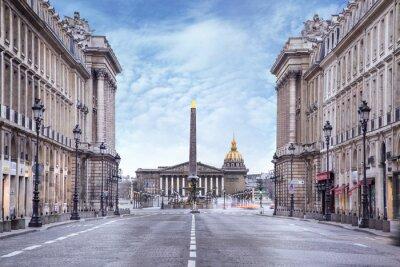 Fototapeta Assemblée nationale et Place de la concorde