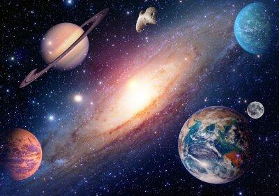 Fototapeta Astrologie astronomie země měsíc kosmickém prostoru Mars Saturn sluneční soustava planeta galaxie. Prvky tohoto obrázku zařízeném NASA.