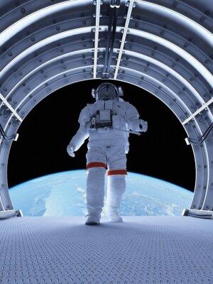 Fototapeta Astronaut v tunelech