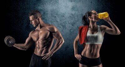 Fototapeta Atletický muž a žena