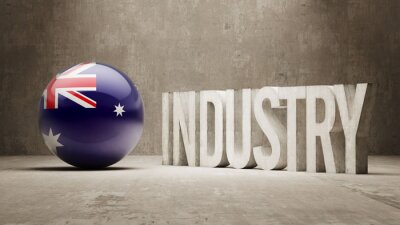 Austrálie. Průmysl Concept.
