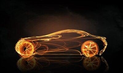 Fototapeta Auto světlo symbol