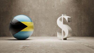 Bahamy. Peníze Sign koncept.
