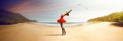 Fototapeta Ballet Dancer at the beach