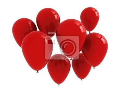 Balóny izolovaných na bílém pozadí