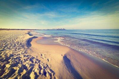 Fototapeta Baltské moře pláž, vintage foto.