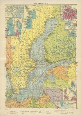 Fototapeta Baltské moře ročník mapa
