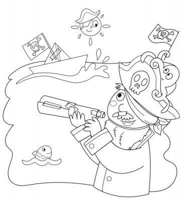 Fototapeta Bambino vestito da Pirata