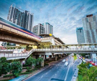 Fototapeta Bangkok stanice metra za soumraku
