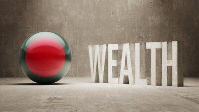 Bangladéš. Bohatství Concept.