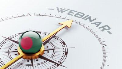 Bangladéš Webinář Concept