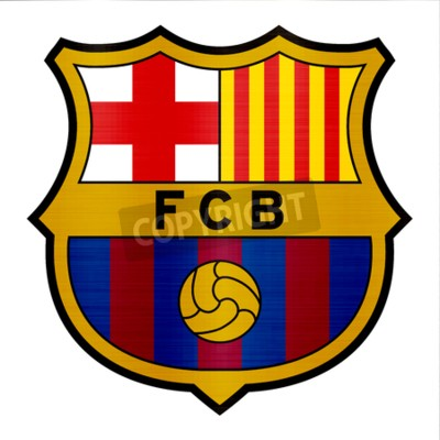 Fototapeta barcelona metallic logo illustration