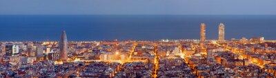 Fototapeta Barcelona panorama panorama v Blue Hour